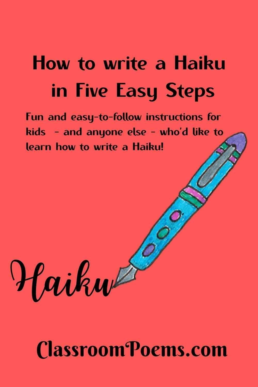 How To Write A Haiku Write A Haiku Writing Poems Haiku Poems For Kids [ 1500 x 1000 Pixel ]