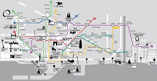 Barcelona Terkep Viajar Por Espana Barcelona Espana