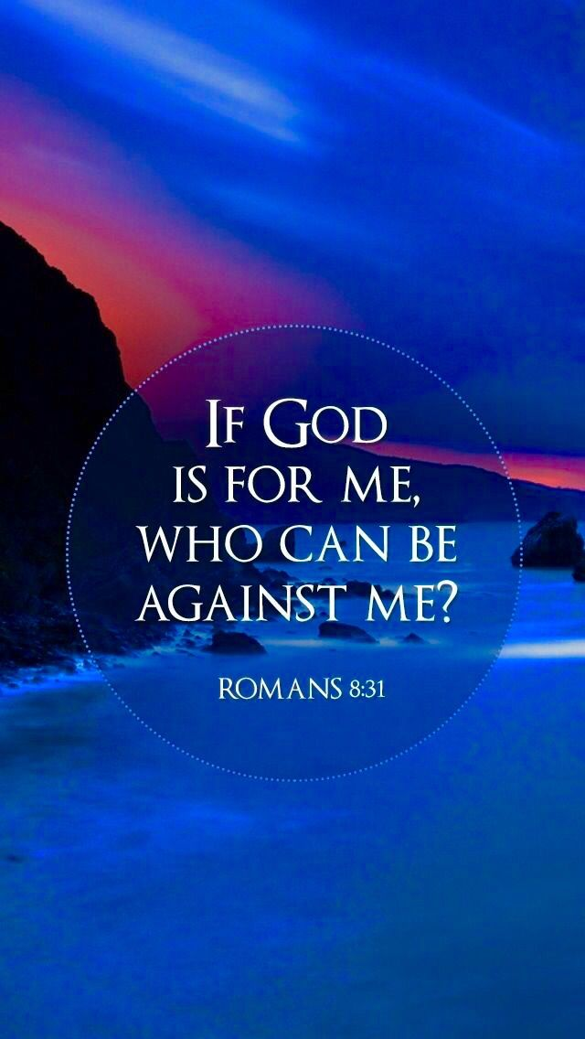 Image result for if god is for me who can be against me kjv
