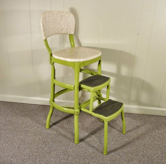 Super Apple Green Cosco 50S Vintage Step Stool Kitchen Stool Short Links Chair Design For Home Short Linksinfo