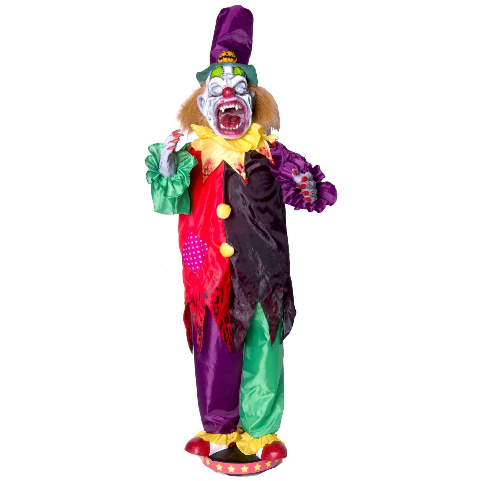 Walking Clown With Teeth Animated halloween decorations