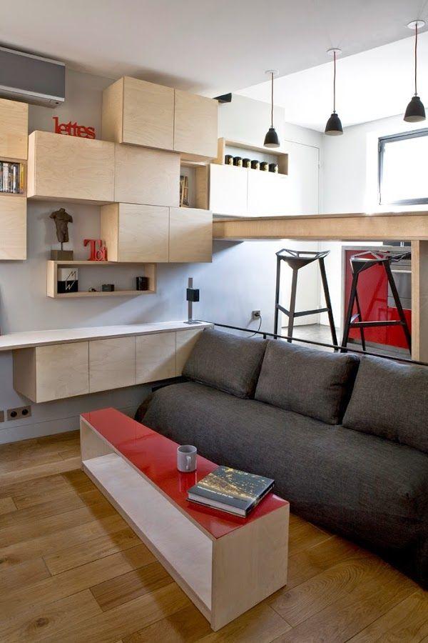 Minipiso En París De 16 M2 Microapartamento Interior De Apartamento Apartamentos