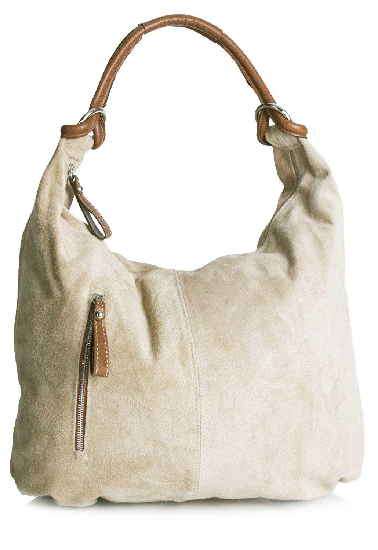 142b6785df Big Handbag Shop Women Real Italian Suede Leather Large Hobo Shoulder Bag