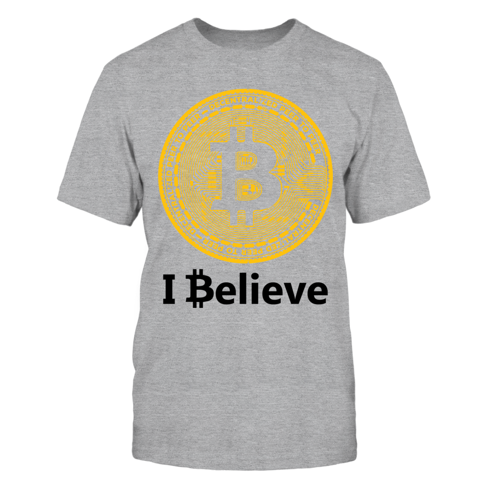 """I Believe in Bitcoin T-Shirt, Bitcoin Quotes: What do you Believe? **""""If you bought $100 of bitcoin 7 years ago, you'd be sitting on $72.9 million now after new record high"""" - CNBC """"Bitcoin is not currency; it's the internet of money!""""  -- Andreas Antonopoulos ** *JPMorgan CEO Jamie Dimon says bitcoin is a 'fraud' that will... ,  Available Products:          Gildan Unisex T-Shirt - $24.95 District Men's Premium T-Shirt - $25.95 Gildan Unisex Pullover Hoodie - $47.95 Next Level Women's…"""