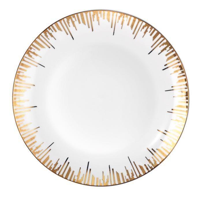 Holiday Glam Christmas Dinner Plates - Set of 4 Elegant Gold Rimmed Dinnerware  sc 1 st  Pinterest & Holiday Glam Christmas Dinner Plates - Set of 4 Elegant Gold Rimmed ...