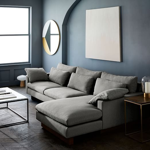 Harmony 2 Piece Chaise Sectional Luxury Living Room Living Room