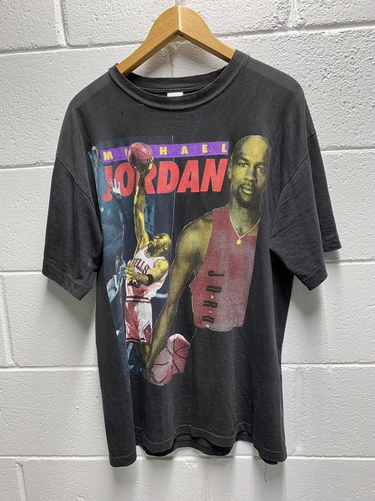 cefad51e Vintage Rap Tee Michael Jordan Bulls Mens Size XL 90s Hip Hop #MichaelJordan