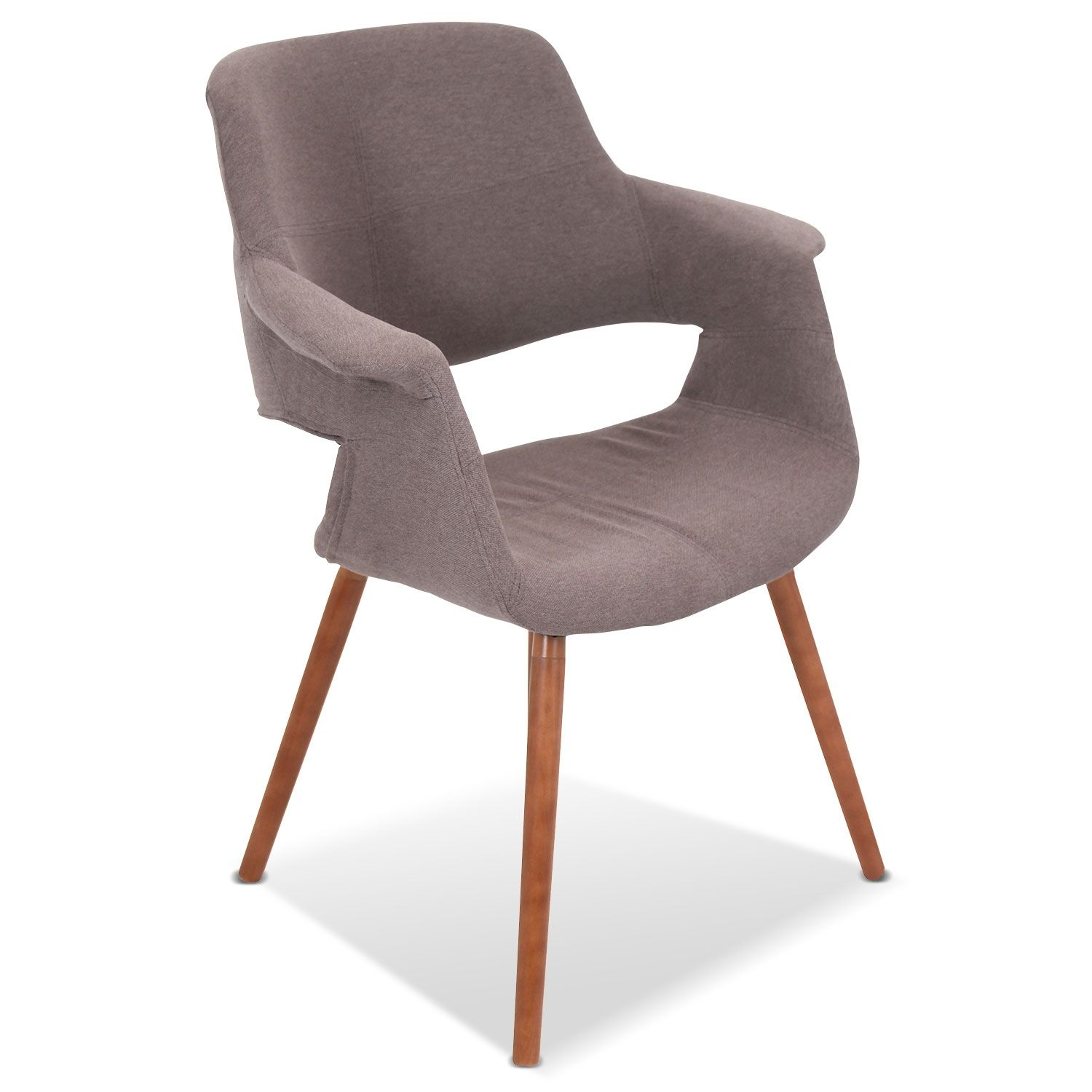 Living room furniture solo accent chair brown