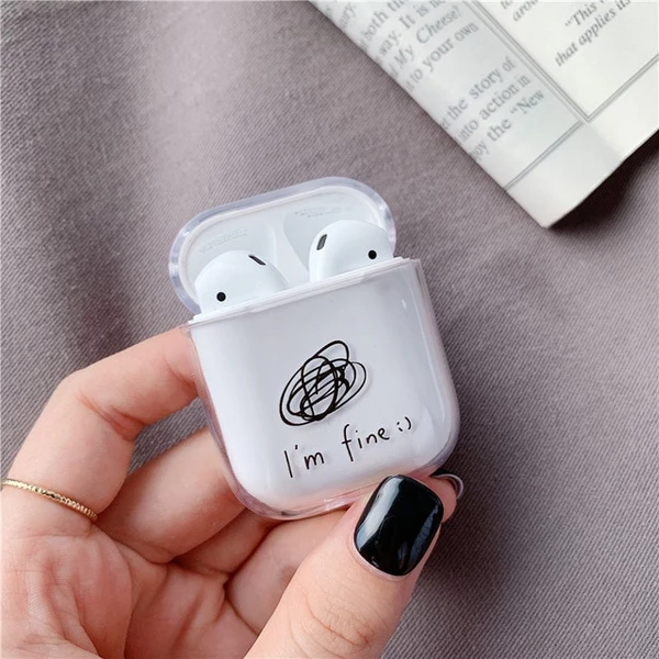 Cute Cartoon Case For Apple Airpods Cover Buletooth Earphone For Air Pods Cover Transparent Hard Headphones Case Box For Airpod Cute Ipod Cases Earbuds Case Iphone Transparent Case