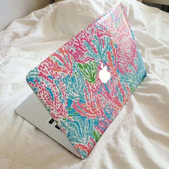 new concept b175f 2a339 Lilly Pulitzer Inspired Macbook SKIN by moonandstarco on Etsy ...