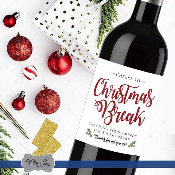 Teacher Christmas Gift Teacher Christmas Wine Label Teacher Wine Label Christmas Gift For Teacher Teacher Christmas Wine Teacher Gift Christmas Wine Label