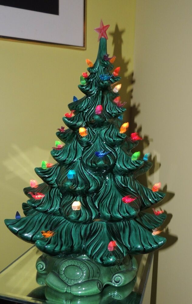 Vintage Ceramic Lighted Christmas Tree Mid Century Christmas Tree Atlantic Mold Atlanticmoldco Christmas Tree Lighting Christmas Tree Mid Century Christmas