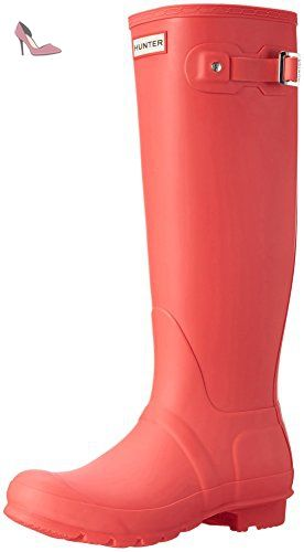 Hunter Original Gloss, Bottes à Doublure Femme - Rouge (Military Red) - 39.5