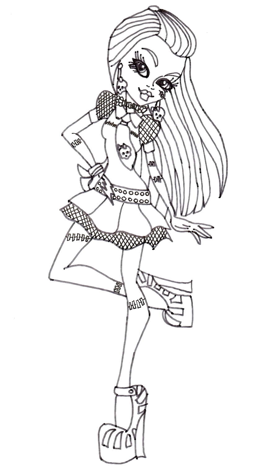 Dibujos Para Colorear De Monster High Frankie Stein picture gallery