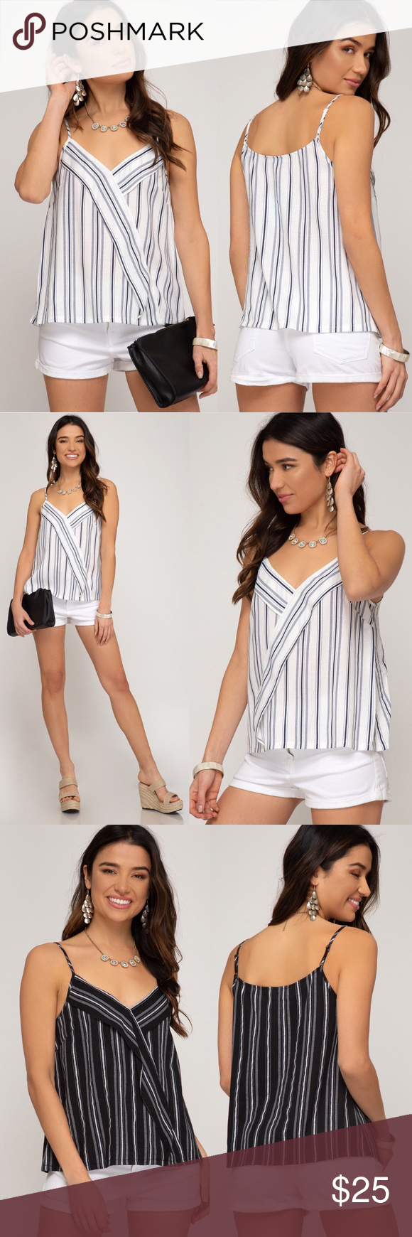 Striped cami top Striped woven cami top with front surprise detail Tops Blouses #stripedcamitops Striped cami top Striped woven cami top with front surprise detail Tops Blouses #stripedcamitops