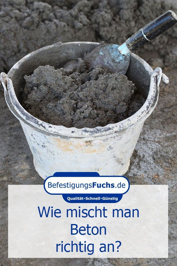 How to mix concrete properly?  - Tipps und Tricks aus Heim- und Handwerk -