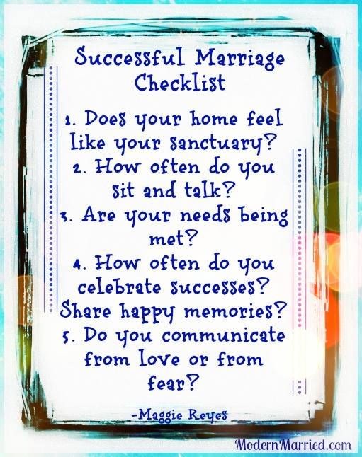 Successful Marriage Checklist Marriage Tips Marriage Advice Healthy Relationships Happy Marriage Successful Marriage Marriage Tips Marriage Advice