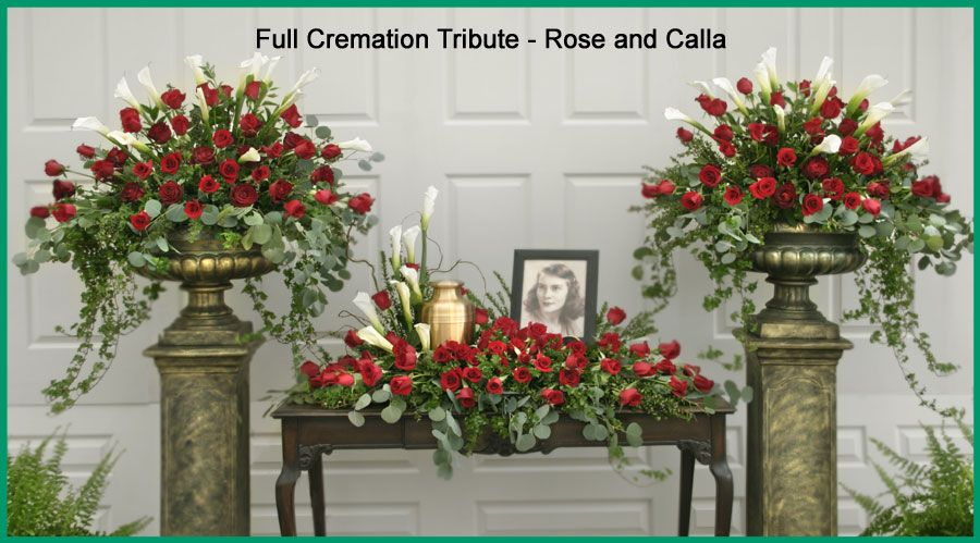 Cremation Tributes Oberer S Flowers Serving Dayton Columbus Cincinnati Indianapolis And Louis With Images Funeral Flower Arrangements Funeral Flowers Memorial Flowers
