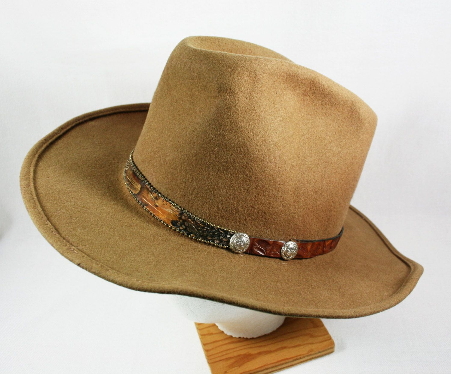 SALE Vintage Mens Eddy Brothers Eddy by Chris Eddy Wool Cowboy Western Hat  Etsy Treasury Item. 2e133ead5b1