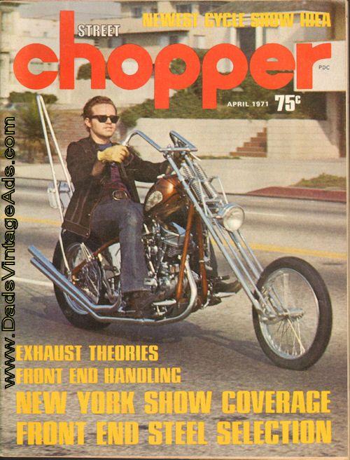 1971 April Street Chopper Magazine Bill Cody S Iron Horse
