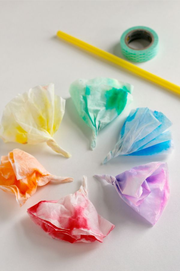 Make a Coffee Filter Flower Bunch