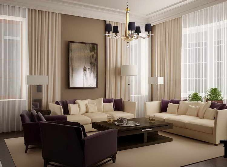 living room drapery styles