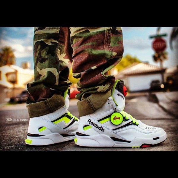 Pas cher Homme Reebok Pump Omni Zone s cuir Hi Top Baskets W