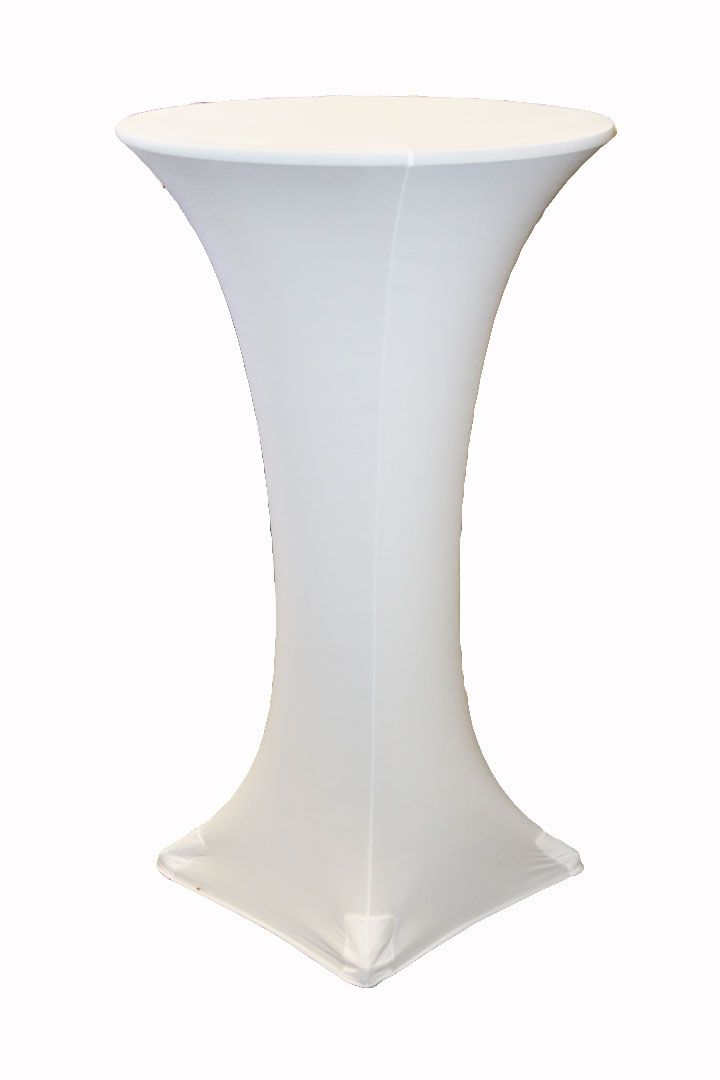 High 24 Quot Round Cocktail Table Cover White Cocktail
