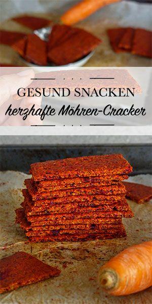 Gesund Snacken: Herzhafte Möhren-Cracker