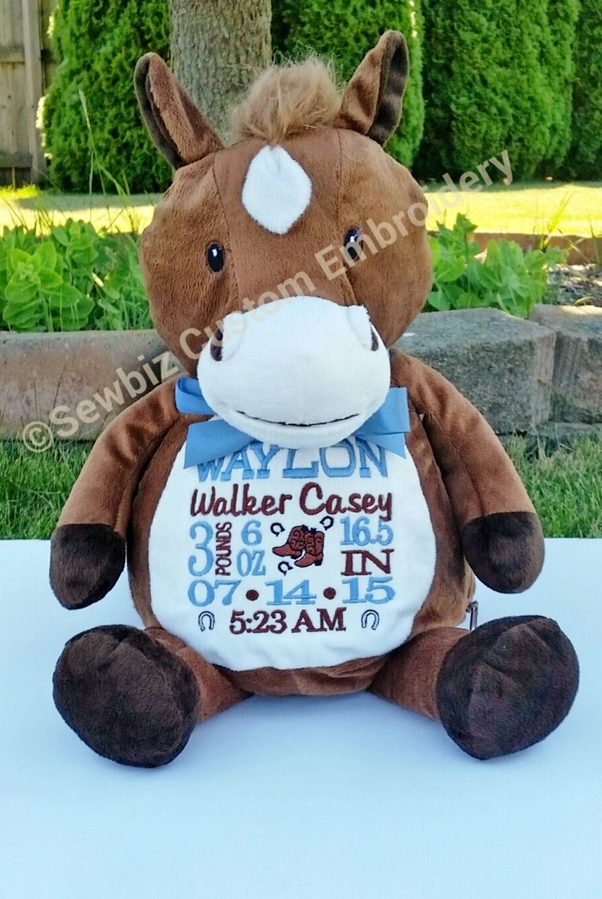 Howie horse buddy personalized stuffed animal baby gift birth howie horse buddy personalized stuffed animal baby gift birth announcement animal negle Images