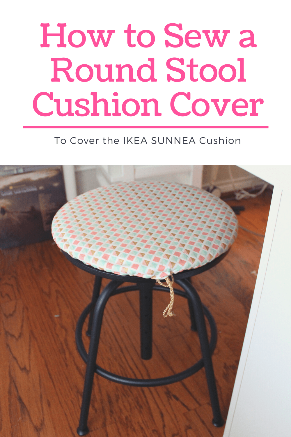 How To Sew A Round Cushion Cover IKEA SUNNEA Stool Pad