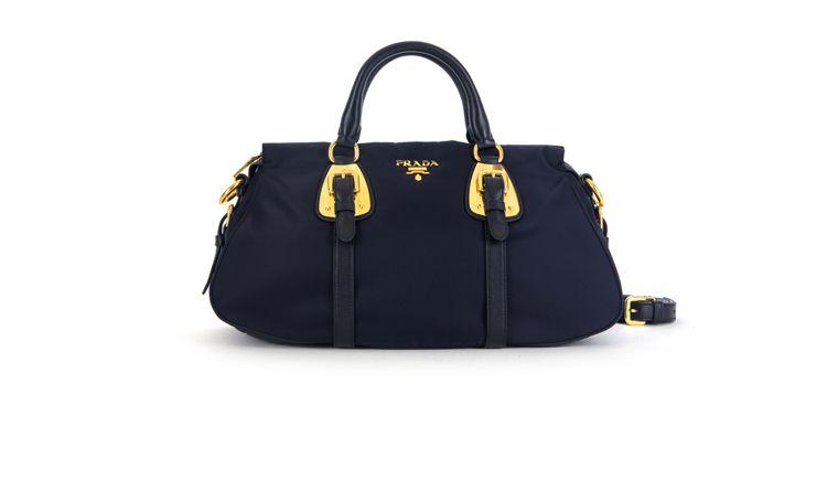 4a172aebae Prada Bauletto Tessuto Soft Calf BN1903 in Bleu | Bagaholic! | Bags ...