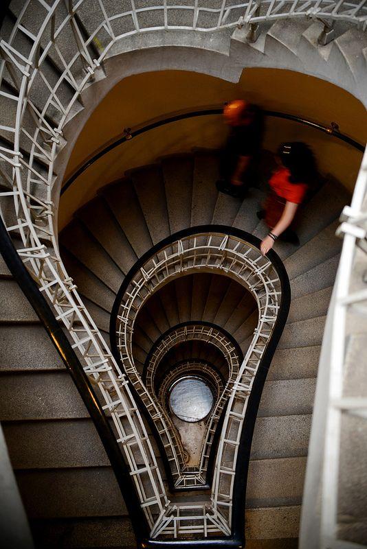Staircase, Grand Cafe Orient, cubist house, Prague, Czech Republic