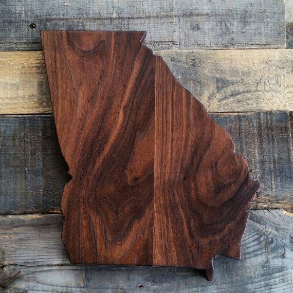 Handmade Georgia Cutting Board Wood Cutting Board by PennAndKnife
