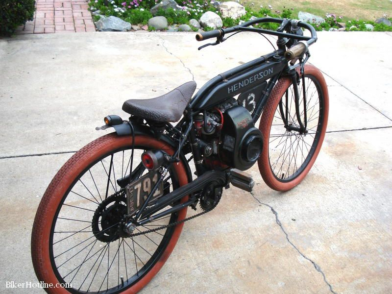 Motorized bicycle boardtracker from mike chiavetta bikes for Motorized bicycle repair shop