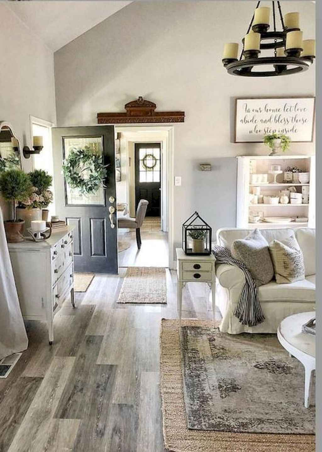 01 best farmhouse living room with rug decor ideas in 2020