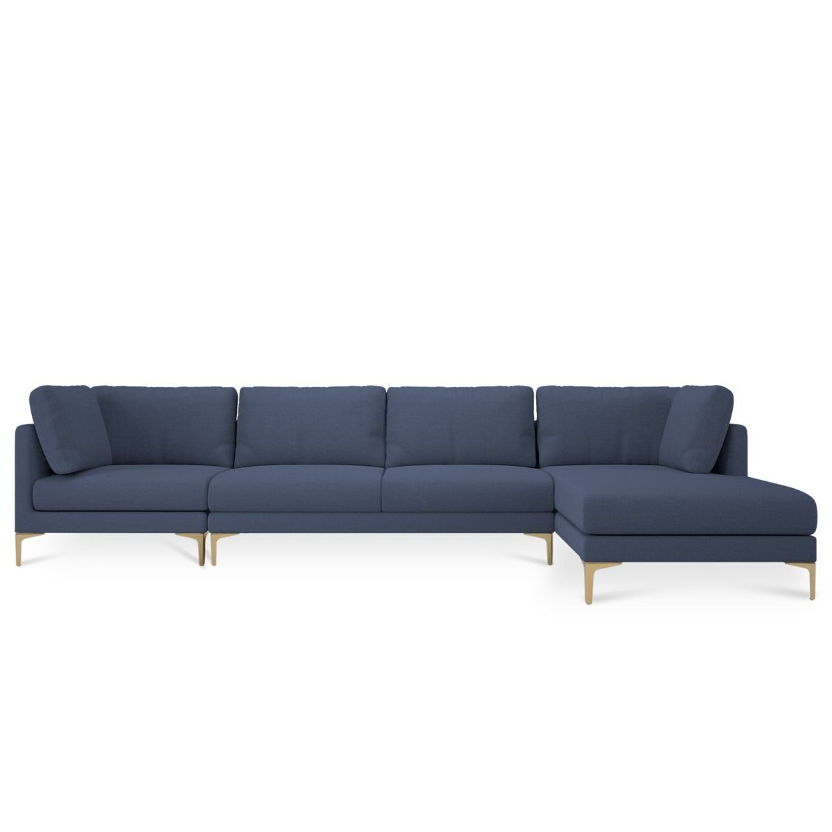 Adams Extended Chaise Sectional Sofa Sectional Sofa Sofa Blue