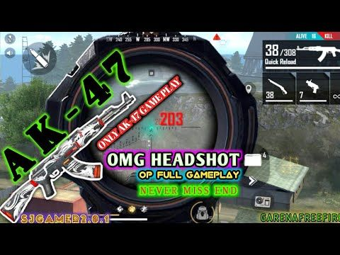 It Looks Like A Hacker||Just Shoot It In The Head With AK-47||See to the end|| Garena Free Fire