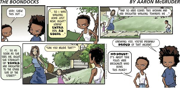 Boondocks comic strip website
