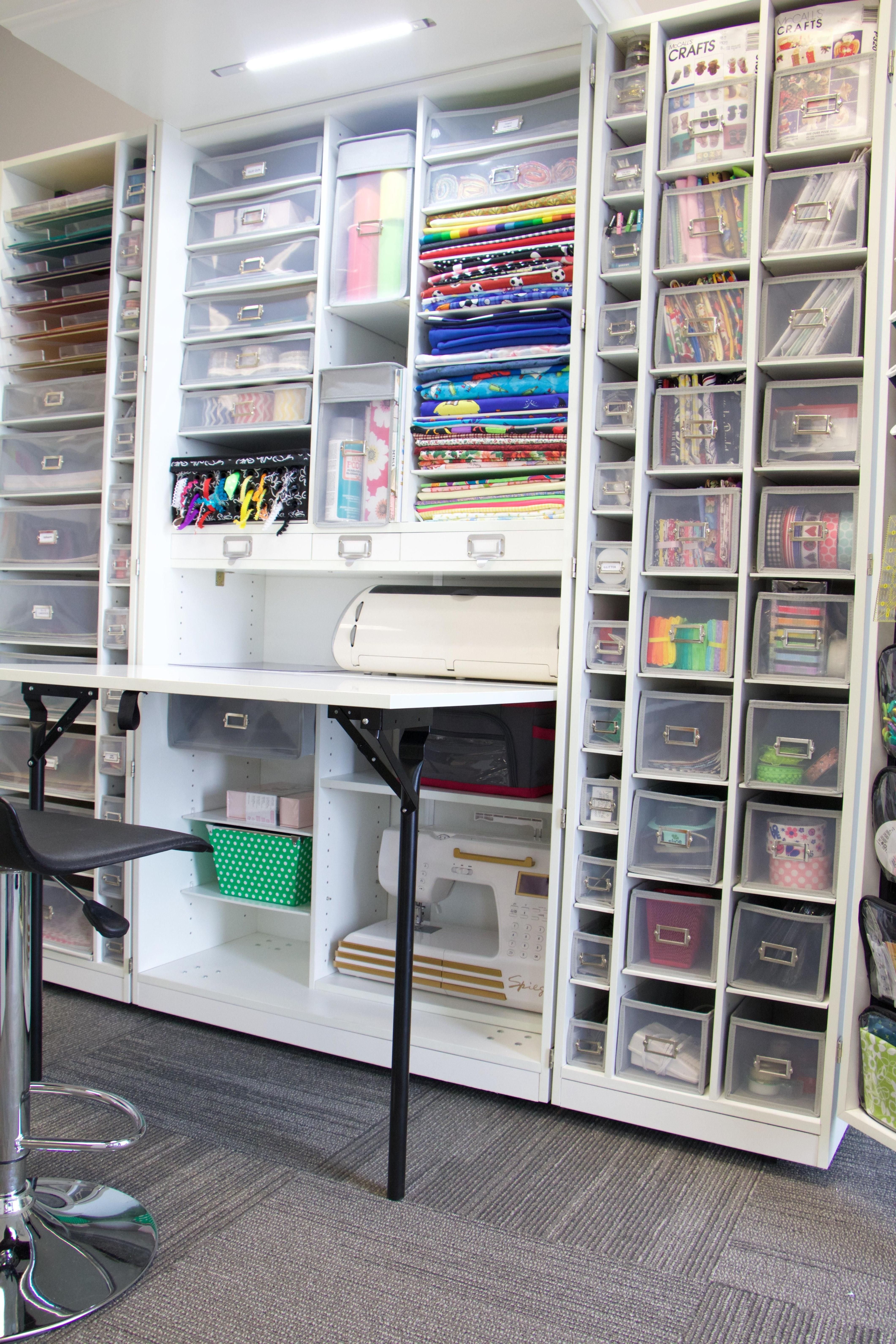 20 Best Craft Room Storage And Organization Furniture Ideas Homedecraft Organization Furniture Sewing Room Storage Storage And Organization
