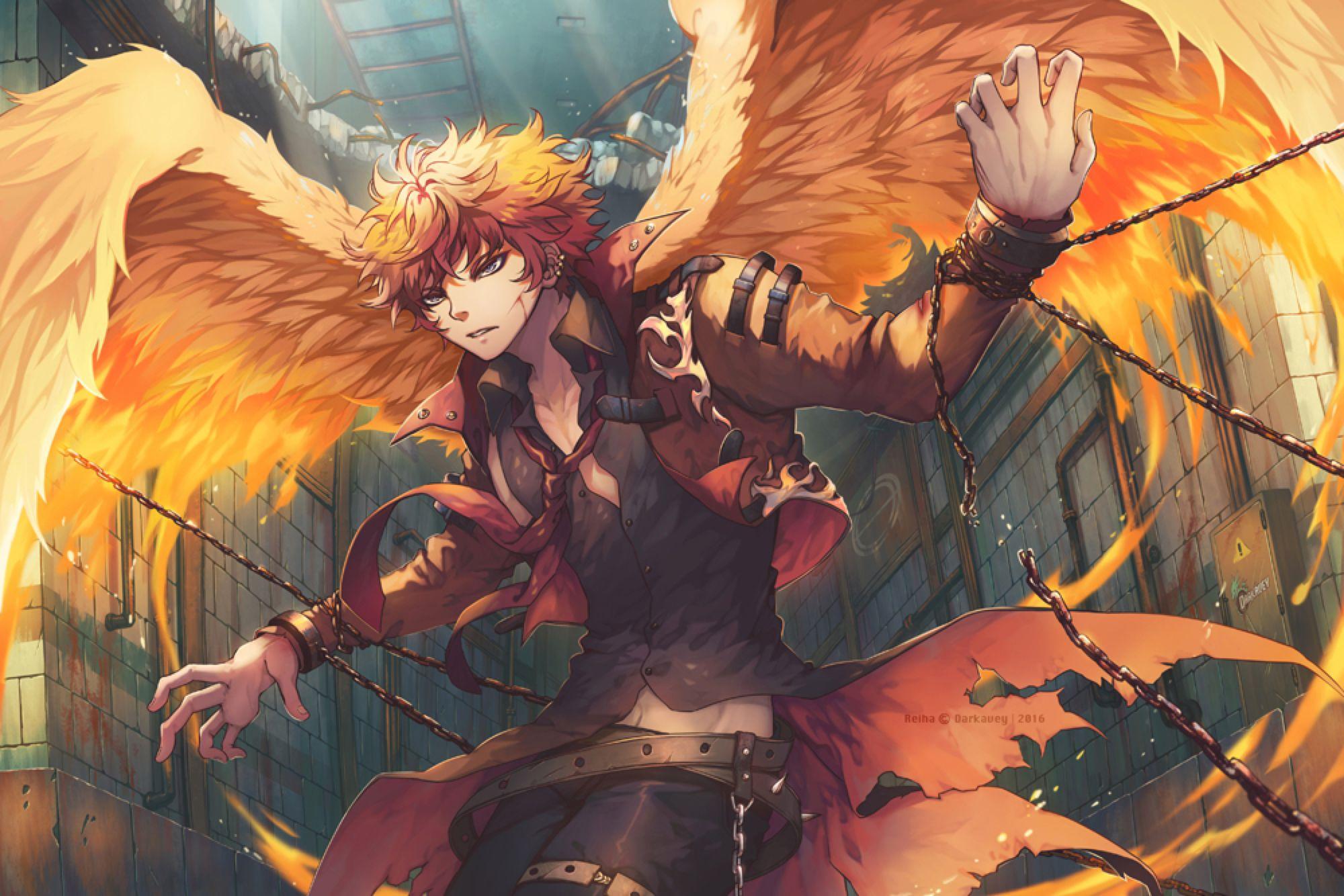 Restrained Fire by Darkavey on DeviantArt Garotos anime