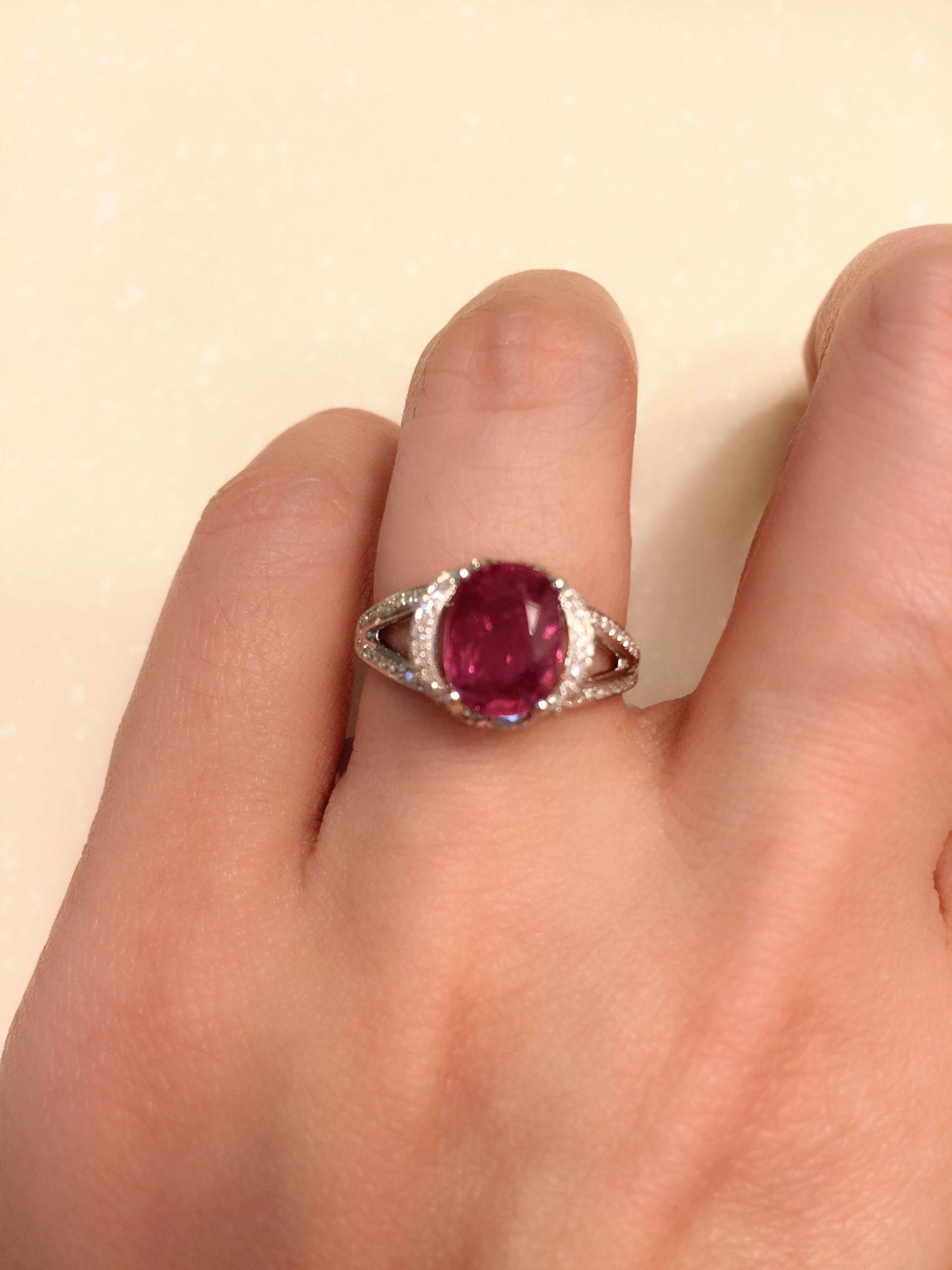 22 ct non heat natural ruby diamond ring ruby diamond