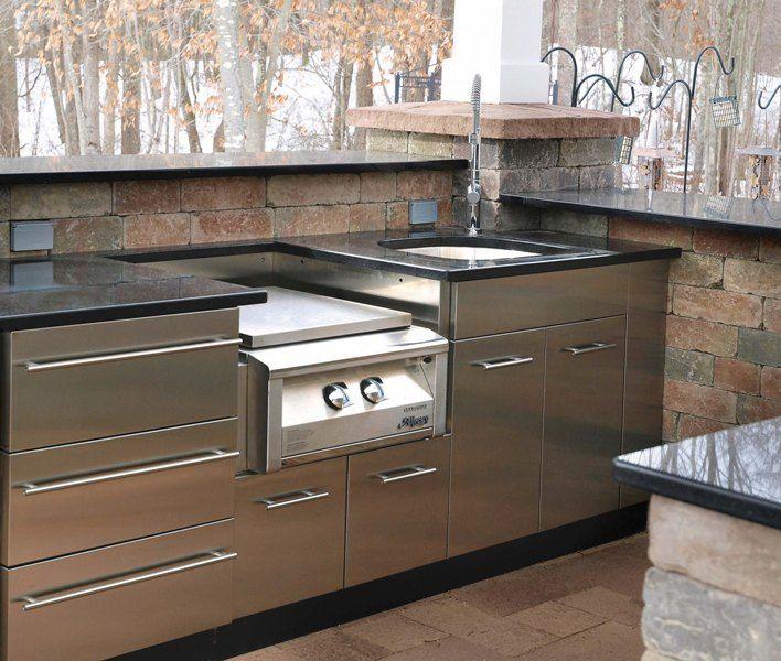 Outdoor Kitchen Outdoor Kitchen Design Stainless Steel Cabinets Diy Outdoor Kitchen