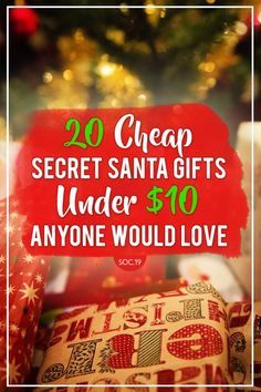 20 Cheap Secret Santa Gifts Under $10 Anyone Would Love & 20 Cheap Secret Santa Gifts Under $10 Anyone Would Love | birthday ...