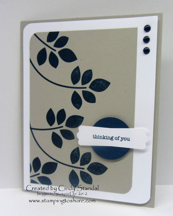 Love this CAS Betsy's Blossoms card by Cindy Standal