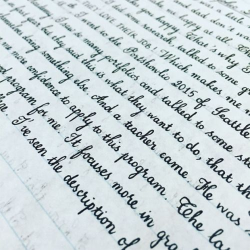 20 Examples of Handwriting So Perfect Theyu0027ll Give You an Eyegasm - copy write letter to my friend