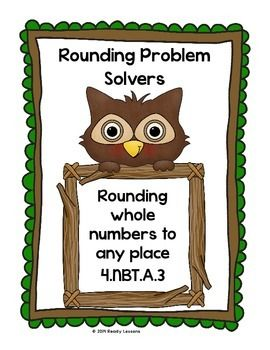 Rounding Worksheets for Rounding Large Numbers to any Place 4.NBT.3