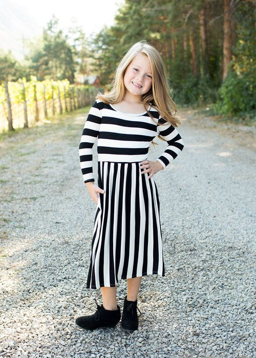 f70417879707 Little Girls Striped Dress