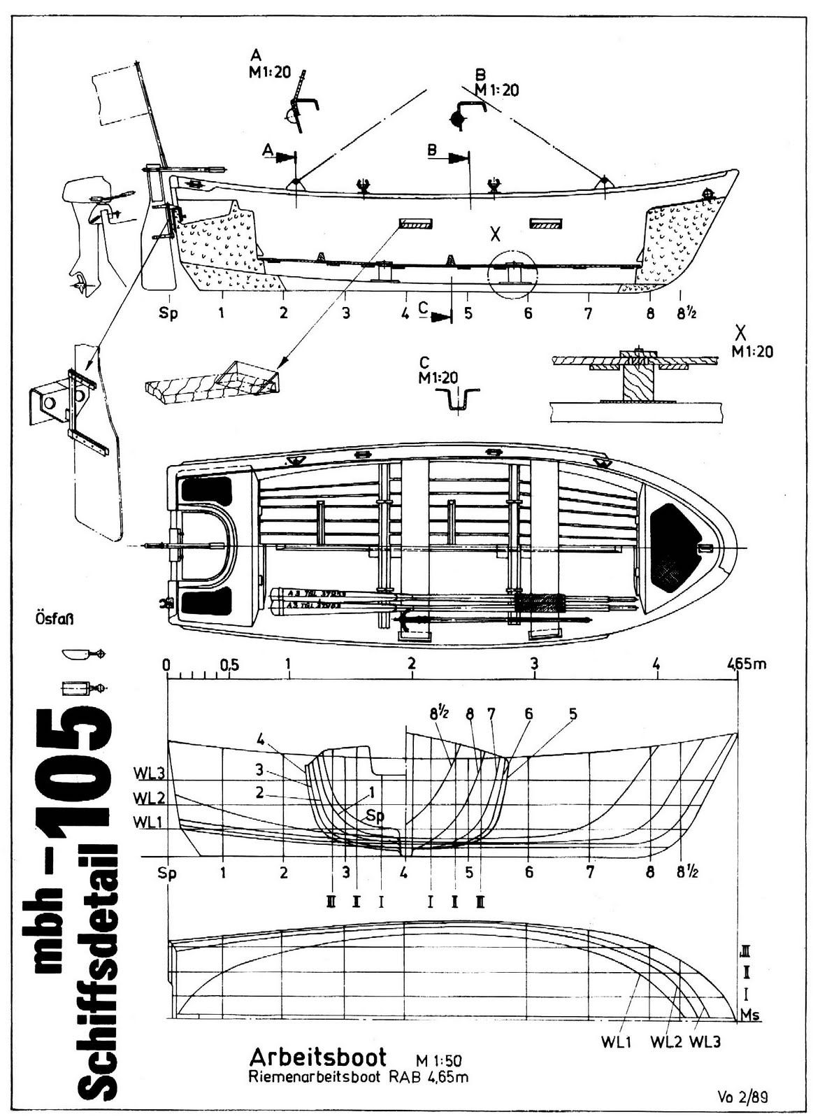 free boat blueprints bing images pinterest