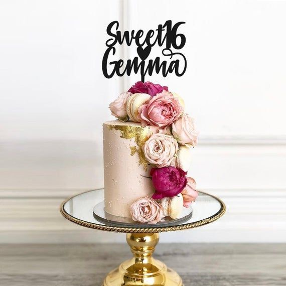 Custom Personalised 16 Cake Topper | 16th Birthday Cake Topper | Cake Decoration | Decorating 16 Per
